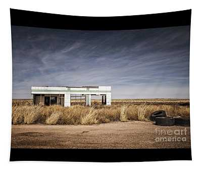 Glenrio Abandoned Gas Station  Tapestry
