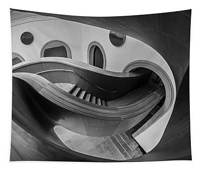 Glorious Wooden Winding Stairs  Tapestry