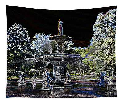 Glowing Forsyth Fountain Tapestry