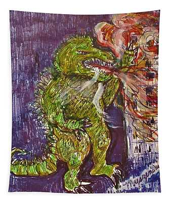 Godzilla King Of The Monsters Tapestry
