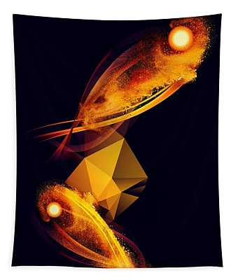 Gold Fish Wish Tapestry