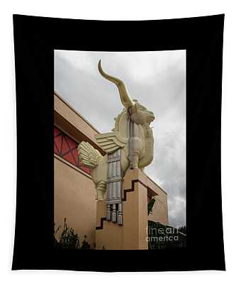 Gold Horn Chimera Tapestry