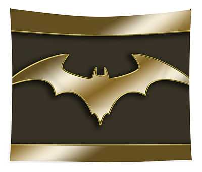 Golden Bat Tapestry