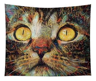 Golden Eyes Dreaming Tapestry