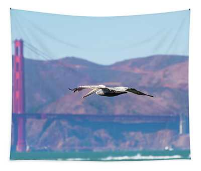 Golden Gate Bridge View Tapestry