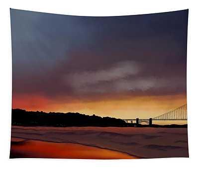 Golden Gate Sunset Tapestry