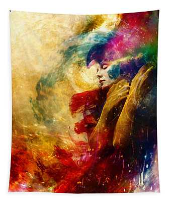 Golden Gloom Tapestry