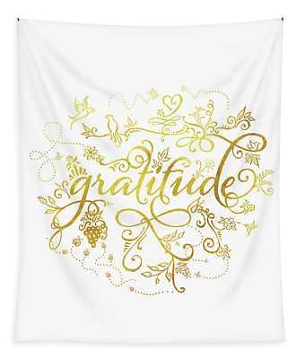 Golden Gratitude Tapestry