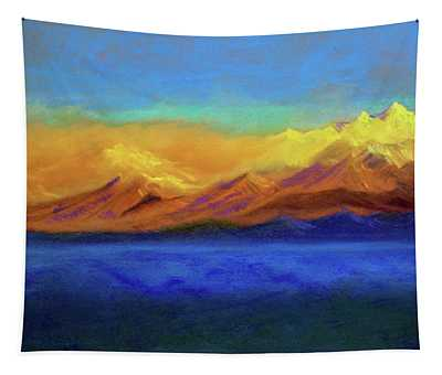 Golden Himalayas Tapestry