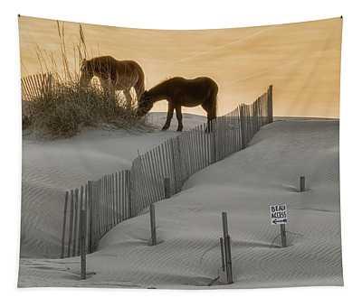 Golden Horses Tapestry