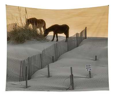 Golden Horses Tapestry