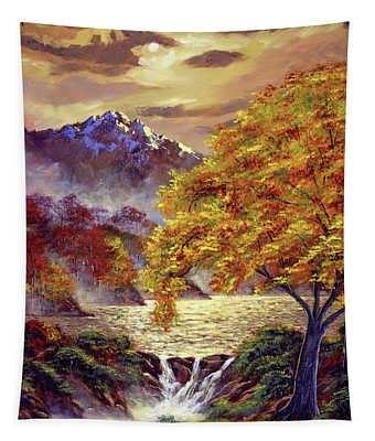 Golden Hour Light Tapestry