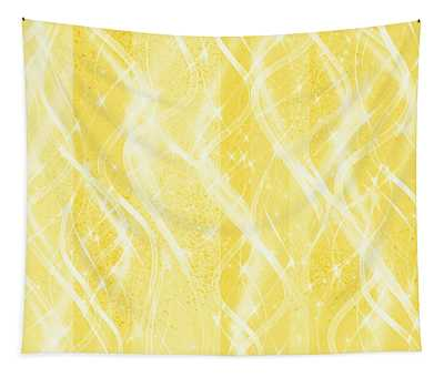 Golden Pineapple Twist Tapestry
