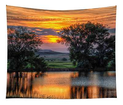 Golden Pond At 36x60 Tapestry