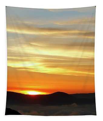 Golden Sunset Over The Precordillera Chile Tapestry