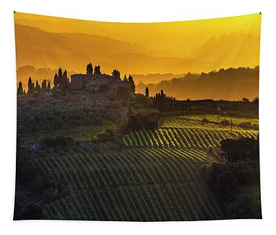 Golden Tuscany Tapestry