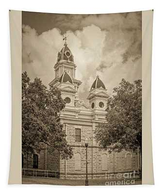 Goliad Courthouse In Sepia Tapestry