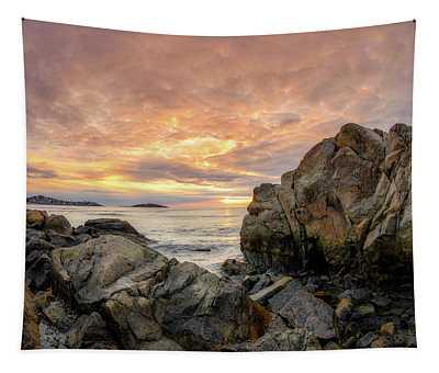 Good Harbor Rock View 1 Tapestry