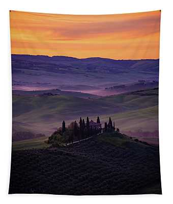 Good Morning San Quirico D' Orcia Tapestry