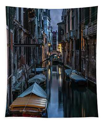 Tapestry featuring the photograph Goodnight Venice by Jaroslaw Blaminsky