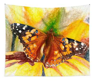 Gorgeous Painted Lady Butterfly Tapestry