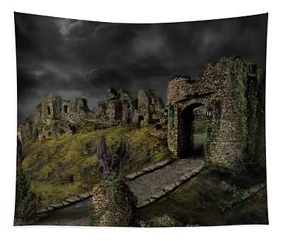 Gothic Ruins I Tapestry