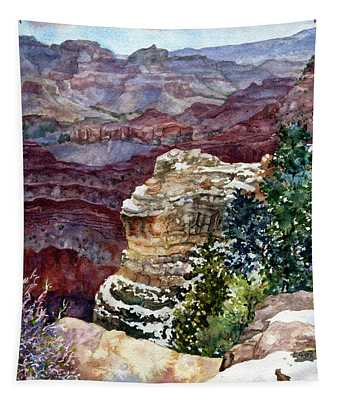 Grand Canyon Winter Day Tapestry