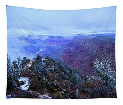 Grand Canyon Winter Scene Tapestry