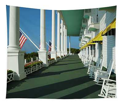 Grand Hotel Porch Tapestry