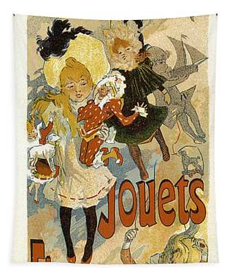 Grand Magasin Louvre Jouets 1891 Vintage French Advertising Tapestry