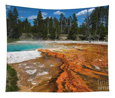 Tapestry featuring the photograph Grand Prismatic Spring by Mae Wertz