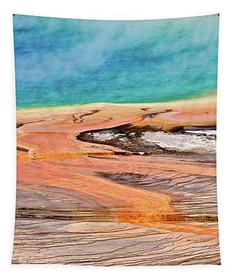 Grand Prismatic Spring Yellowstone Vertical Tapestry