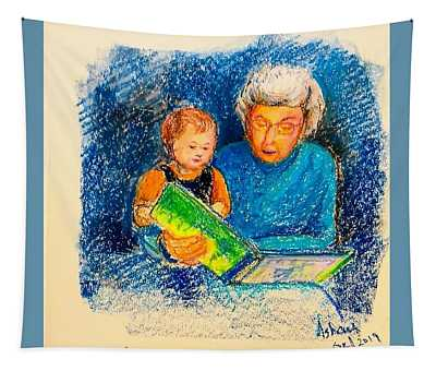 Grandmother And Baby Tapestry