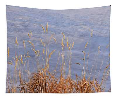 Grasses By The Lake Tapestry