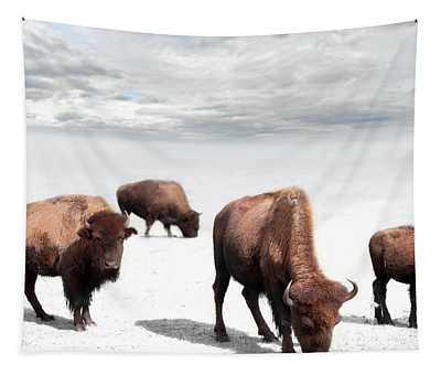 Grazing Buffalo Tapestry