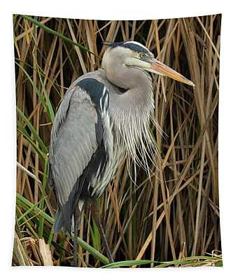 Great Blue Heron On Padre Island Tapestry