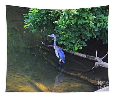 Tapestry featuring the photograph Great Blue Heron by Patti Whitten