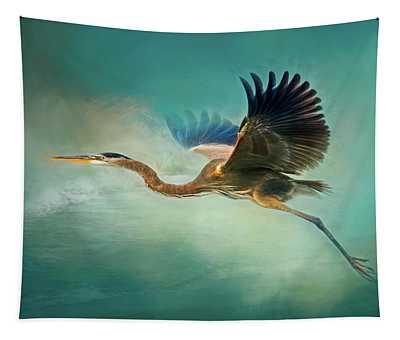 Great Blue Heron Tapestry