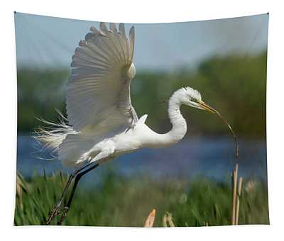 Great Egret 2014-1 Tapestry