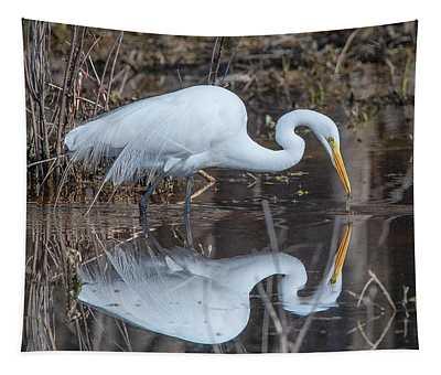 Great Egret In Breeding Plumage Dmsb0154 Tapestry