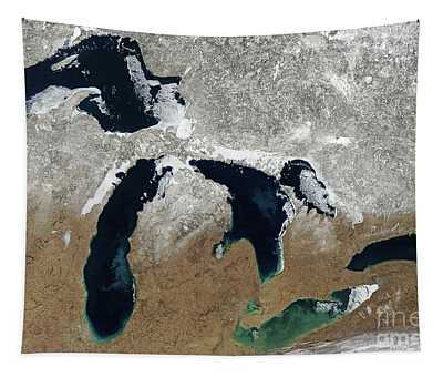 Great Lakes In Winter Tapestry