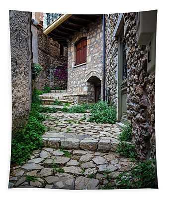 Greece Street 3 Tapestry