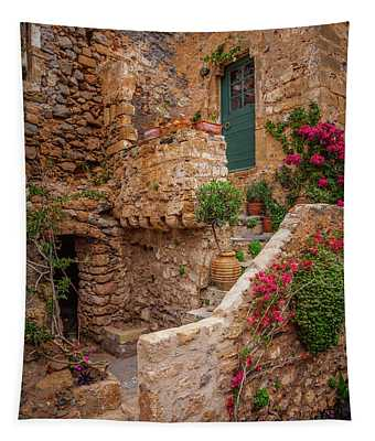 Greek Doors 27 Tapestry