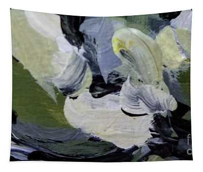 Tapestry featuring the painting Green #2 by Maria Langgle