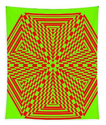 Green And Red Fusion  Tapestry