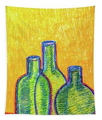 Green Bottles Tapestry