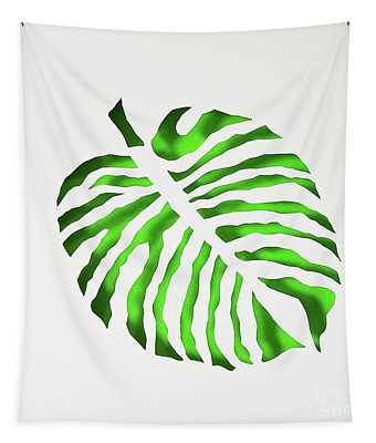 Green Monstra Tapestry
