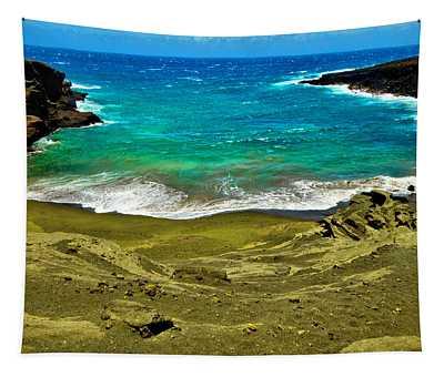 Green Sand Beach Tapestry