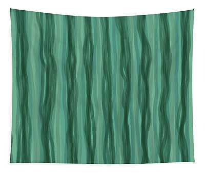 Green Stripes Tapestry