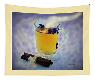 Green Tea And Cinnamon Sticks Tapestry